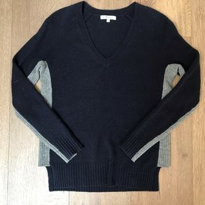 Madewell Navy and Gray Sweater